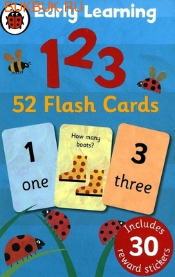 LADYBIRD 1 2 3 EARLY LEARNING 52 FLASH CARDS